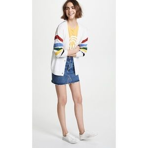 Joie Jewlina Rainbow Stripe Cardigan Sweater Wool